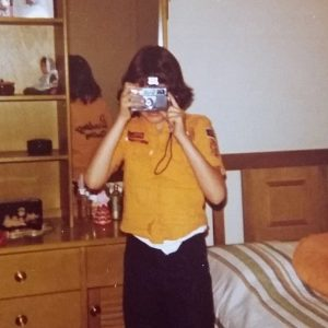 susan papazian when she was young with a camera